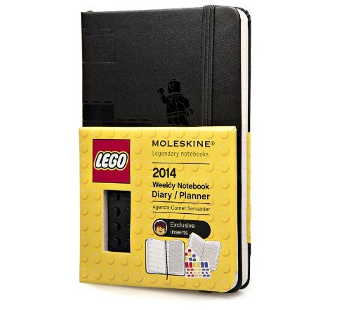 By Moleskine Moleskine 2014 LEGO Limited Edition Weekly Planner+Notes, 12 Month, Pocket, Black, Hard Cover (3.5 x (Limited) [Calendar] ()