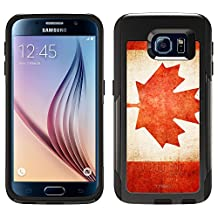 Skin Decal for Otterbox Commuter Samsung Galaxy S6 Case - Canada Vintage Flag