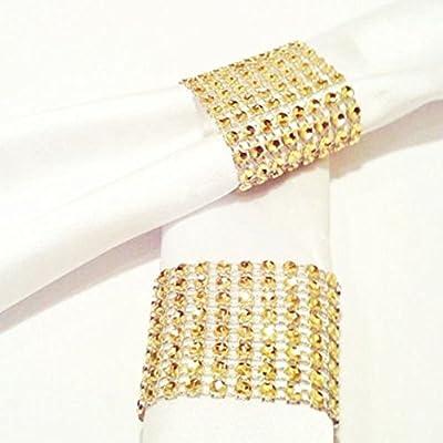 Servilleteros de mesa con forma de anillo, con diamantes ...
