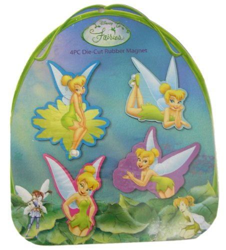 Disney Tinker Bell Die-Cut Rubber Magnet ~ 4 pc Set