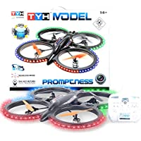 MOLITONG Remote Control LED Light Camera Attachable 4 Channel 6 Axis Gyro 360 Degree Quadcopter UFO BR6809