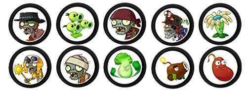 Price comparison product image 12 PLANT VS ZOMBIES birthday party CUSTOM AGE cupcake topper / food picks