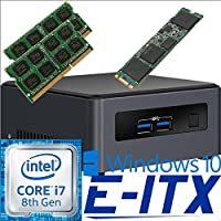 Intel NUC7I7DNHE 8th Gen Core i7 System, 8GB Dual Channel DDR4, 60GB M.2 SSD, Win 10 Pro Installed & Configured by E-ITX