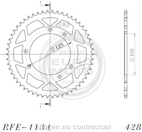 supersprox//–/Corona acciaio Yamaha 428/x 48, rfe1134/X 48blk