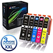 #LightningDeal 85% claimed: Arthur Imaging Compatible Canon Ink cartridges 280 and 281 Replacement PGI-280XXL CLI-281XXL PGI 280 XXL CLI 281 XXL PIXMA TR7520 TR8520 TS6120 TS6220 TS8220 TS9120 TS9520 TS9521C Printer (5 Pack)