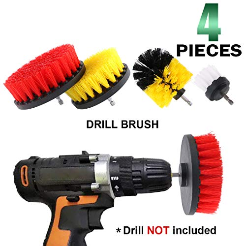 - Keadic 4 Pieces Grout Cleaner Power Scrub Brush Drill Attachment Kit Drillbrush Perfect for Cleaning Kitchen Bathroom Tub Pool Grout and Much More