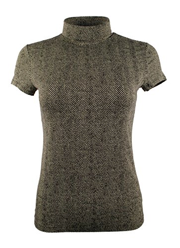 Lauren Ralph Lauren Women's Short Sleeve Turtleneck Jersey (Jersey Print Turtleneck)