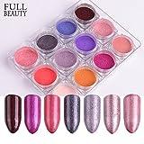 POYING Full Beauty 1 box Nail Art Glitter Powder Shimmer Pigment Pink Thin Dust UV Gel Polishing For Nail Tool Manicure Decoration CHBJ