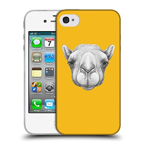GoGoMobile Coque de Protection TPU Silicone Case pour // Q05360602 Portrait Camel ambre // Apple iPhone 4 4S 4G
