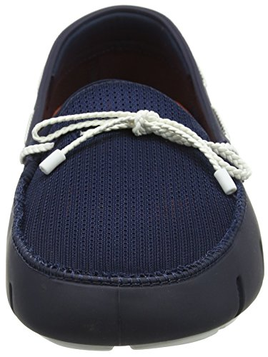 Mocassini Uomo White Navy Blu 048 Braided Swims Loafer Lace qRWA4wFxgP