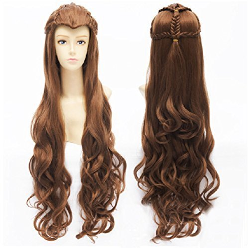 Costumes Tauriel Adult (Anangel Free Hair Cap+for Kids / Adults Lord of the Rings / the Hobbit Elf Tauriel Brown Wavy Cosplay Wig Convention Costume Wigs D0050 by)