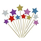 These cute cupcake toppers help you complete your cupcakes perfectly.  There are 36 twinkle twinkle little star cake toppers of 6 different colors in the package. And they can cooperate to use, and they also can be used independently.  These star...