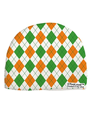 TooLoud Irish Colors Argyle Pattern Adult Fleece Beanie Cap Hat All Over Print