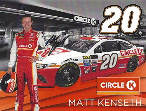 Nascar Racing Collectibles - AUTOGRAPHED 2017 Matt Kenseth #20 Circle K Team RETIREMENT FINAL SEASON (Monster Energy Cup Series) Joe Gibbs Racing Signed Collectible Picture 8X10 Inch NASCAR Hero Card Photo with COA