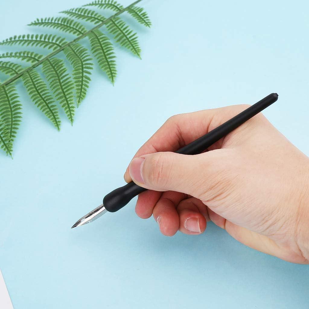 Manga Dip Pen Holder Set Comic Drawing Painting Tools Kit Calligraphy 5 Nibs