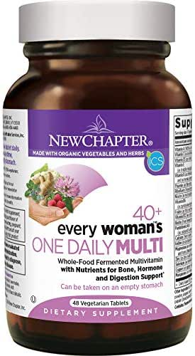 New Chapter Every Woman's One Daily 40+, Women's Multivitamin Fermented with Probiotics + Vitamin D3 + B Vitamins + Organic Non-GMO Ingredients - 48 ct (Packaging May Vary)