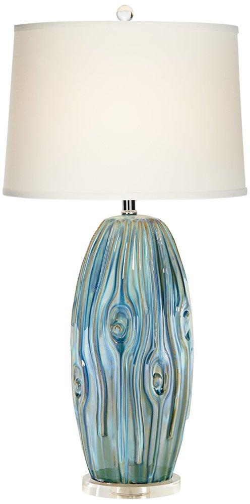 Possini euro eneya blue ceramic table lamp amazon com