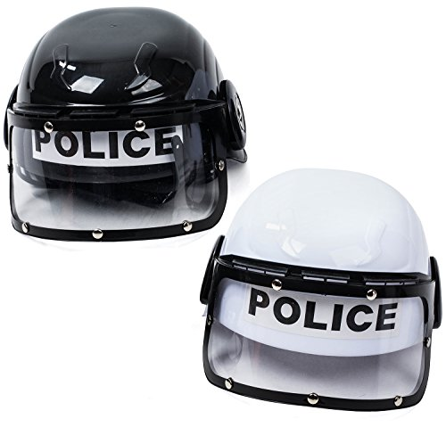 Tigerdoe Police Hat Kids - 2 Pack Police Hat - Police Helmet for Kids - Swat Helmet - Police Costume for -