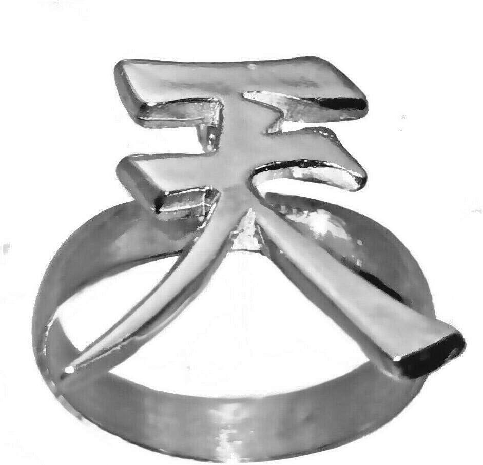 Amazon Com Prince Of Diamonds Kanji Heaven Sterling Silver 925 Ring Akuma Symbol Street Fighter V Jewelry New Home Kitchen