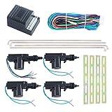 Easyguard Kit de puerta central bloqueo universal con 4actuadores 1Master 3Esclavos DC12V