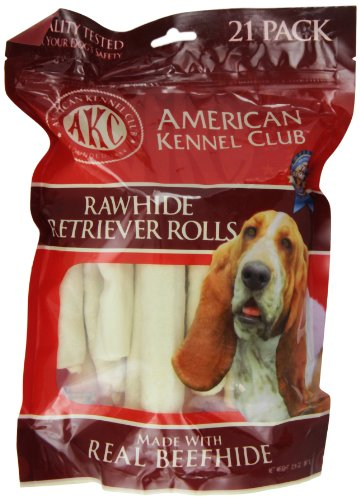 American Kennel Club 21 Count Beefhide Retriever Roll Dog Tr