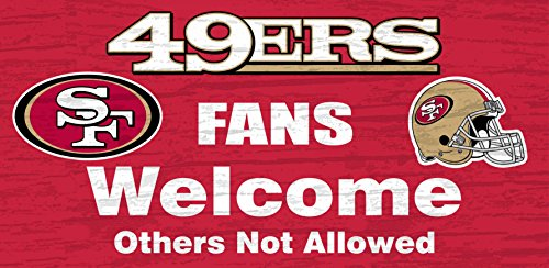 San Francisco 49ers Wood Sign - Fans Welcome - San Outlet Around Francisco
