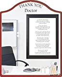 Rikki Knight Thank you Doctor - Medical Office Touching 8x10 Poem Plaque with Arch Top