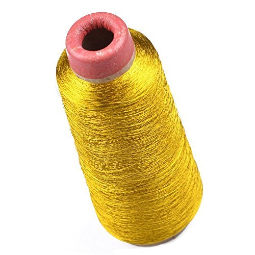 Ellami Metallic gold Color 3000 Yards Polyester Sewing Thread Spools for (Floriani Embroidery Software)