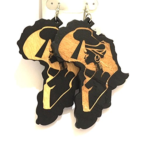 African American Woman's Earring Design, African style fashion style Afro