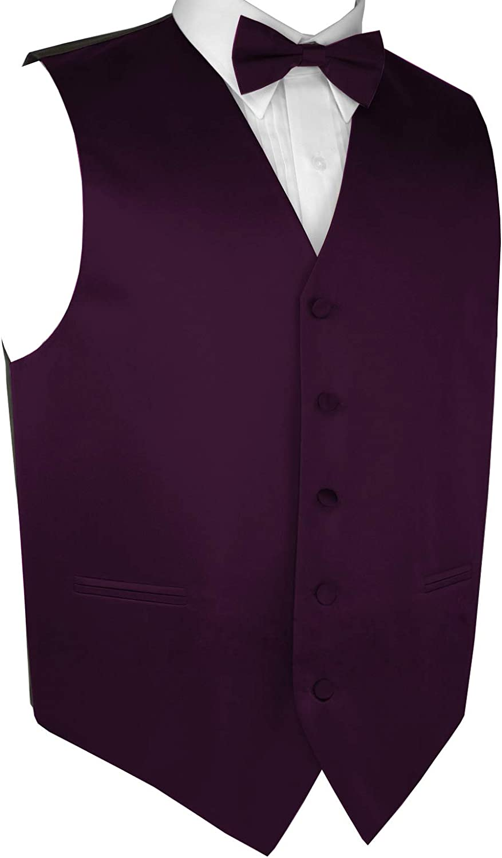 Prom Wedding Tuxedo Vest /& Bow-Tie Set in Berry Brand Q Mens Formal