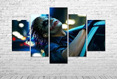 Batman The Joker Movie Canvas Print MULTI PANEL Wall Art Framed Picture