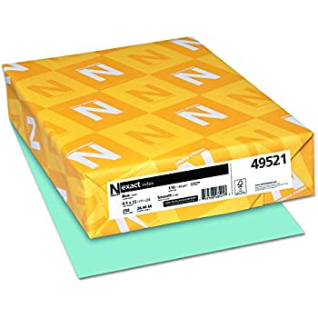 Neenah Paper 49521 Exact Index Card Stock, 110lb, 8 1/2 x 11, Blue (Pack of 250 Sheets)