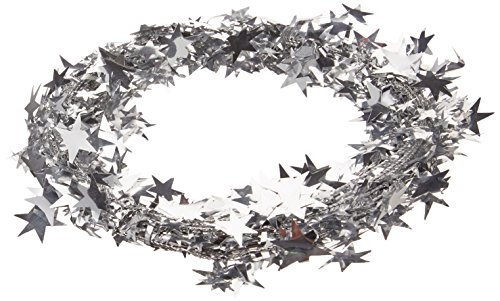 Gleam 'N Flex Star Garland (silver) Party Accessory  (1 count) (Dance Costumes Companies Usa)