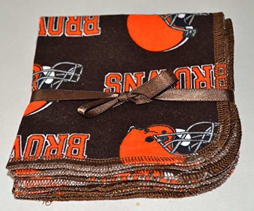 1-ply-printed-flannel-washable-browns-football-8x8-inches-5-pack-little-wipes-r-flannel