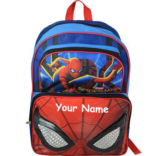 Personalized Marvel Spider-Man Homecoming Movie Back to School Backpack  Book Bag - 16 Inches - Buy Online in KSA. Toy products in Saudi Arabia. 4d7f7d73b0e03