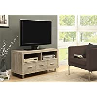 Monarch Reclaimed-Look TV Console with 3 Drawers, 48-Inch, Natural