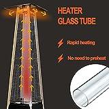 SUMNEW SGT-Glass Quartz Glass Tube Table Top Patio