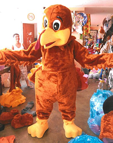 Thanksgiving Turkey Mascot Costume Adult Costume