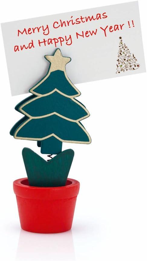 eBuyGB - Tarjetero para Tarjetas de Navidad, Christmas Tree Pot, Pack de 1: Amazon.es: Hogar
