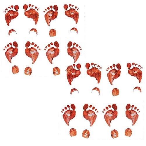 Set of 16 Bloody Footprints Floor Clings