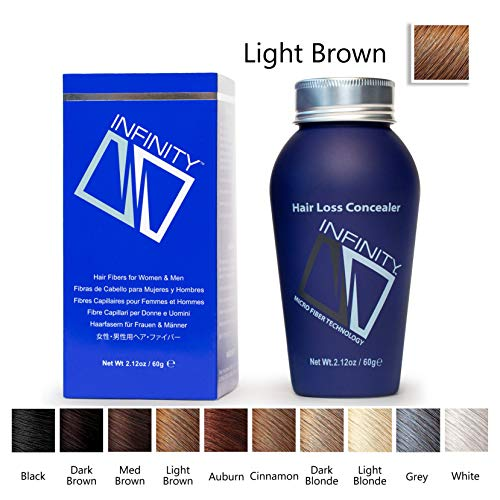 Infinity Hair Fibers, Light Brown, 60g