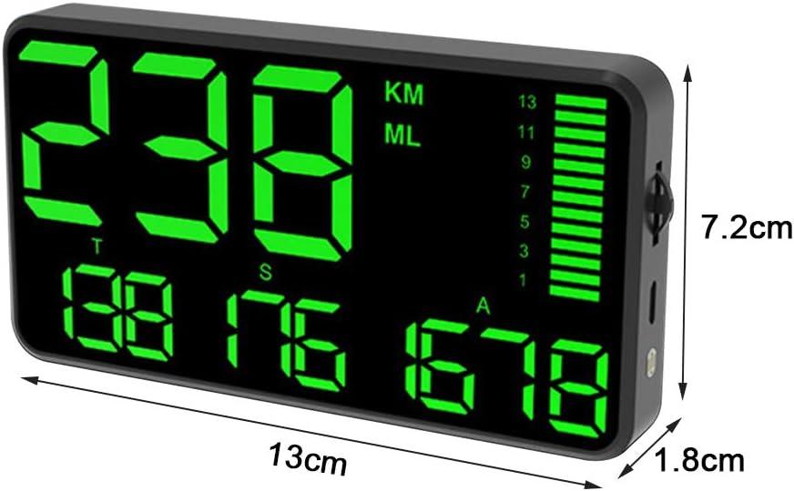 Dogggy Großbild 5 5 Zoll Gps Tacho Kilometerzähler Hud Digitalanzeige Mph Kmh Mit über Geschwindigkeit Alarm Usb Aufladung Für Alle Autos Fahrzeuge Lkw Fahrrad Motorrad Geschwindigkeit Auto