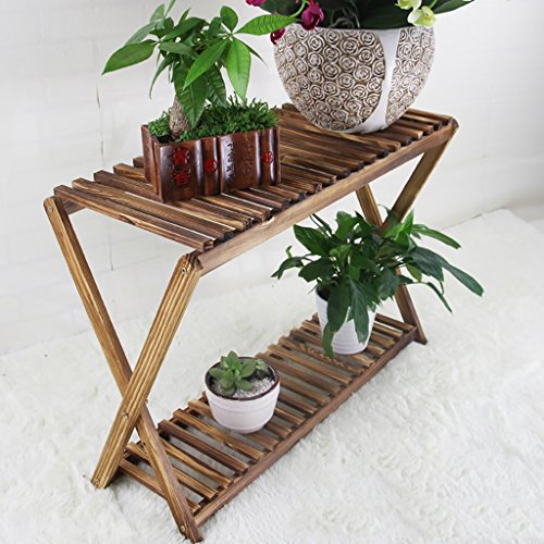 NDD Flower Stand Solid Wood Multi-Layer Landing Flower Stand Balcony Living Room Flower Pot Rack Shelf Plant Stands (Size : 93cm) ()