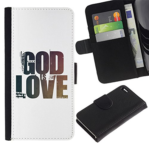 "EuroCase - Apple Iphone 4 / 4S - ""GOD IS LOVE - Cuir PU Coverture Shell Armure Coque Coq Cas Etui Housse Case Cover"