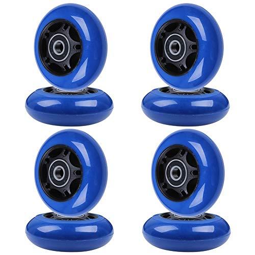 8-Pack Inline Skate Wheels 85A Rollerblade Replacement Wheel with Bearings ABEC-9 (Black Hub Blue Wheel, - In 70 Line Skate Wheels Mm
