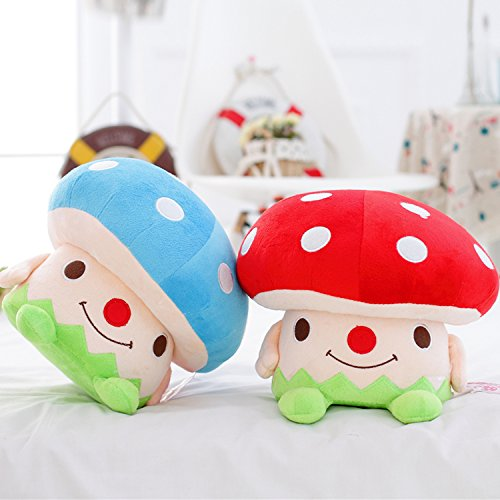 Memorecool cute mushroom plush children step stool toddler for Small stuffed chairs