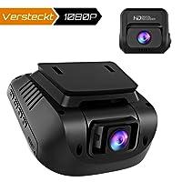 Crosstour Dashcam 1080P Full HD Vorne und Hinten Dual Lens, Externe GPS Auto Kamera, 170 ° Weitwinkelobjektiv HDR Nachtsicht, Bewegungserkennung G-Sensor Loop-Aufnahme