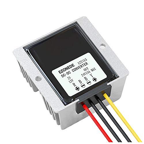 Stayhome 1PCS 12V (10V-22V) to 24V 15A 360W Step Up Boost Converter 12VDC to 24VDC 15AMP Waterproof DC-DC Voltage Regulator Car Power Module (Voltage Amp Regulator 15)