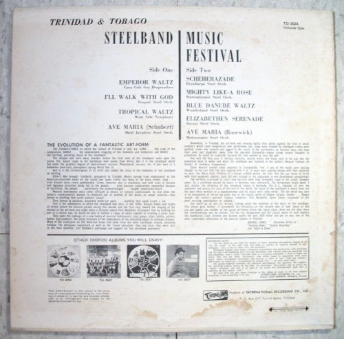Trinidad & Tobago Steelband Music Festival Recorded Live, LP set Preliminaries, Quarter-Finals And Finals by RCA Victor (Image #1)