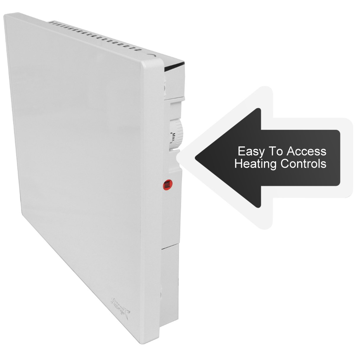New Age Living Phantom 4 Wall Panel Heater - 400W - Radiant & Convection Heating - Silent with No Moving Parts - TUV Rated for Safe Home Use by New Age Living (Image #5)
